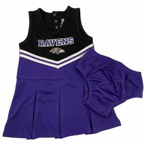Baltimore Ravens NFL Cheerleader Dress Set 4T